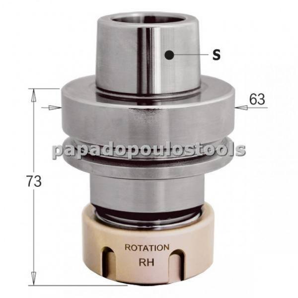 ΚΩΝΟΣ-ΤΣΟΚ ΓΙΑ CNC HSK-F63 ER32 SERIES:183.300.01