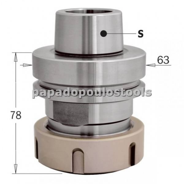 ΚΩΝΟΣ-ΤΣΟΚ ΓΙΑ CNC HSK-F63 ER40 SERIES:183.310.01